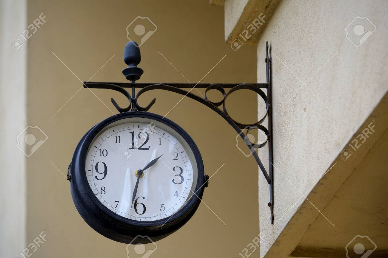 Old Clock On A Building Wall Stock Photo - 18409031