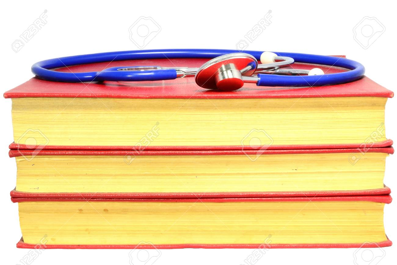 Old Medicine Books And Stethoscope For An University Exam Stock Photo - 18495175