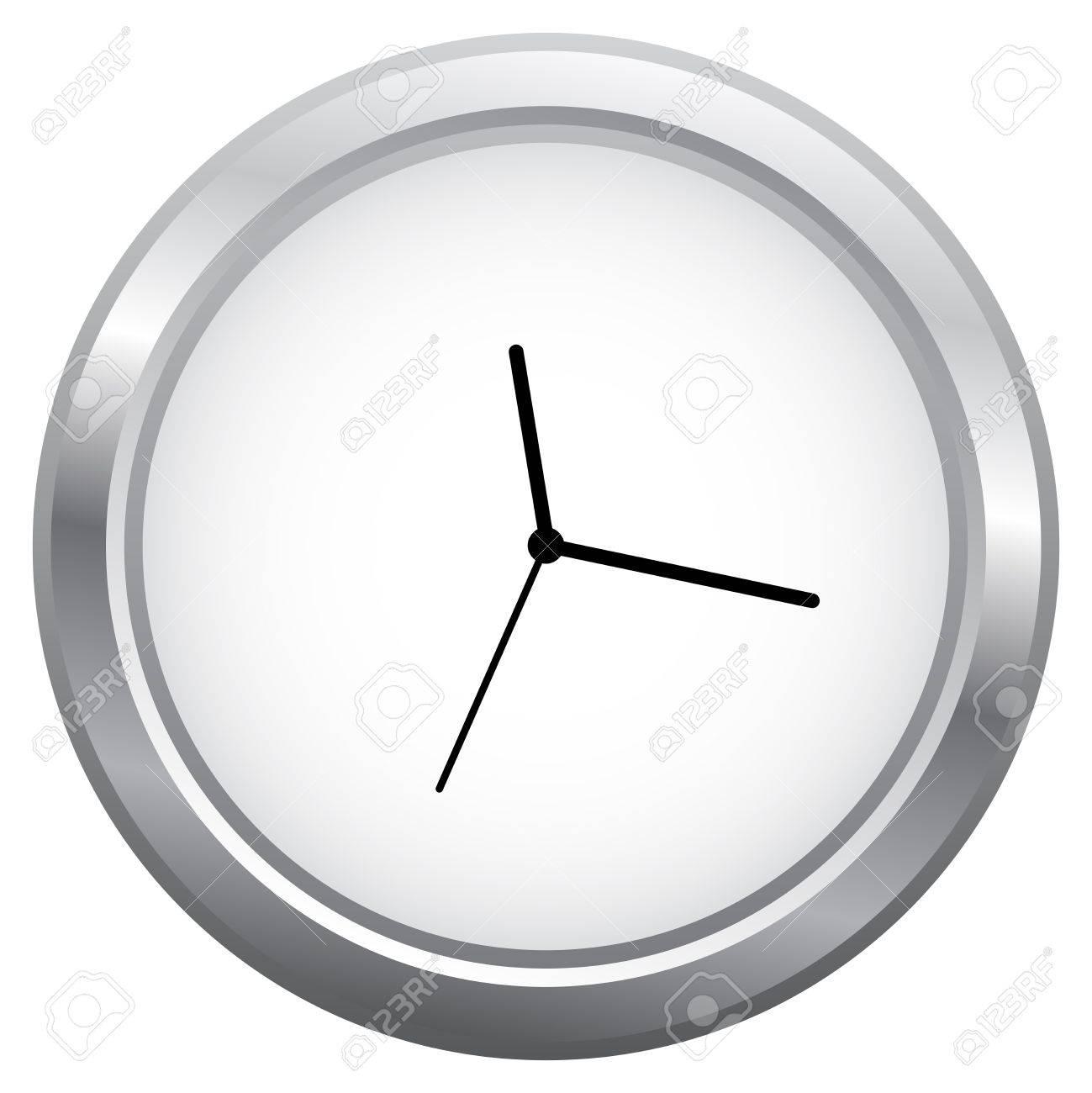 Minimalist Clock Isolated On White Stock Vector - 18625297