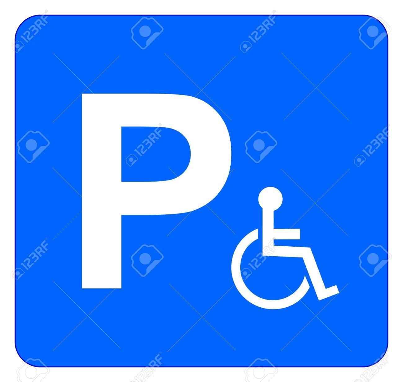 Illustration of parking sign for disabled people isolated on illustration of parking sign for disabled people isolated on white stock vector 18625347 buycottarizona