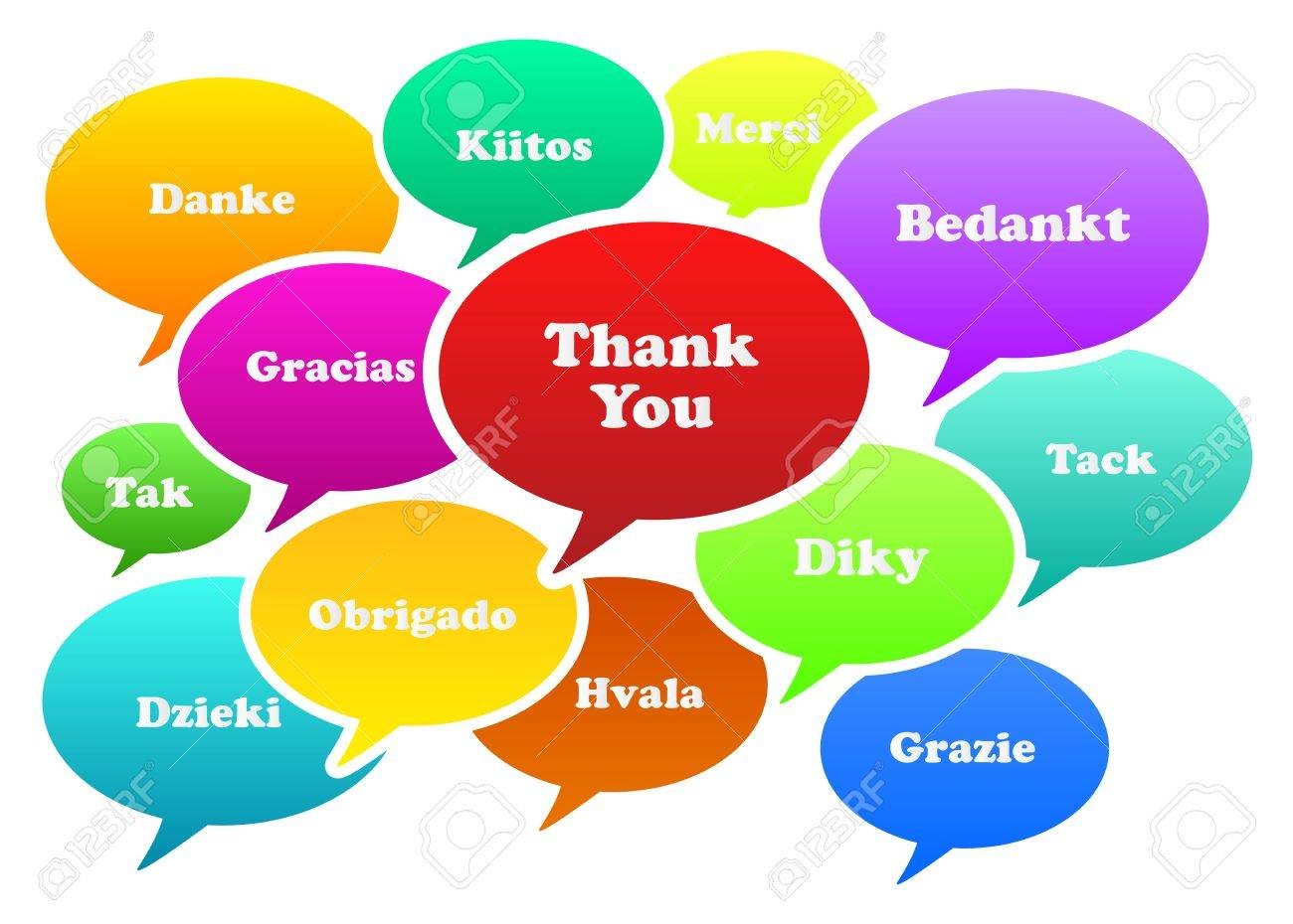 Illustration Of Thank You Bubbles In 13 Languages Stock Vector - 18625410