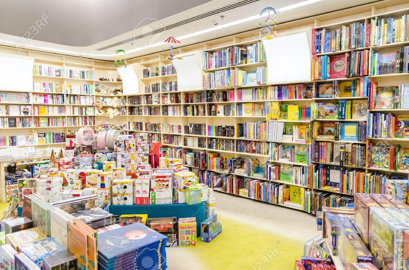 library bookshelves with children books stock photo 18740107 - Library Bookshelves