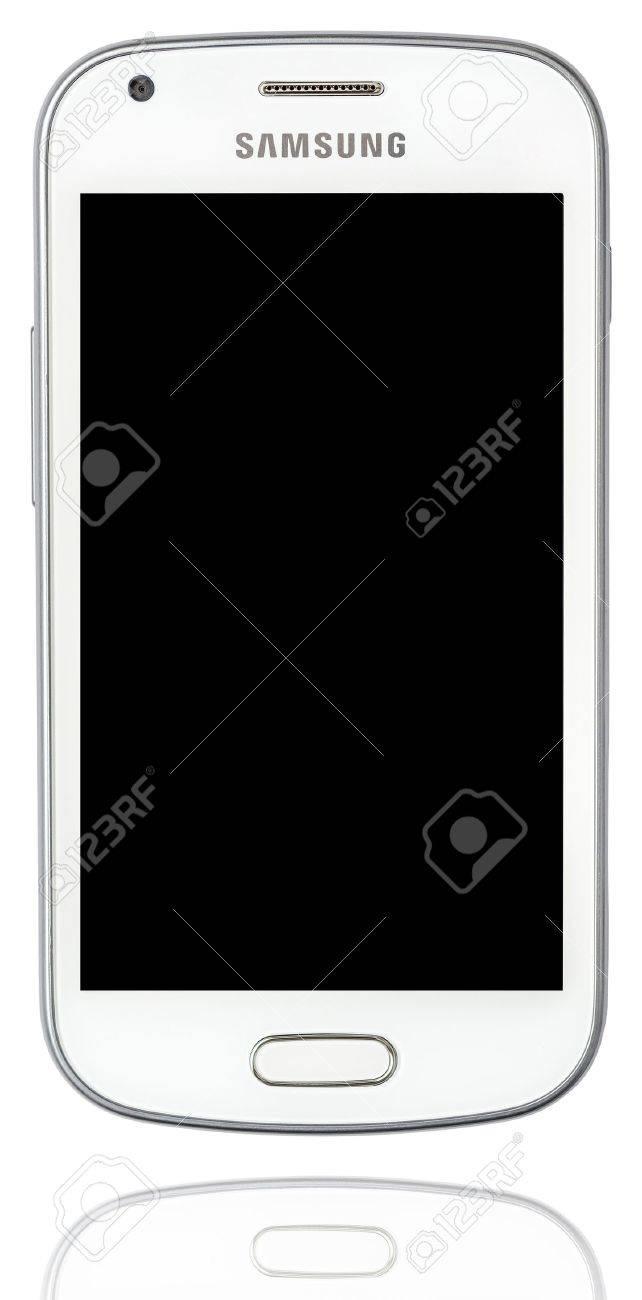 White Samsung Galaxy Isolated On White Stock Photo - 18740084