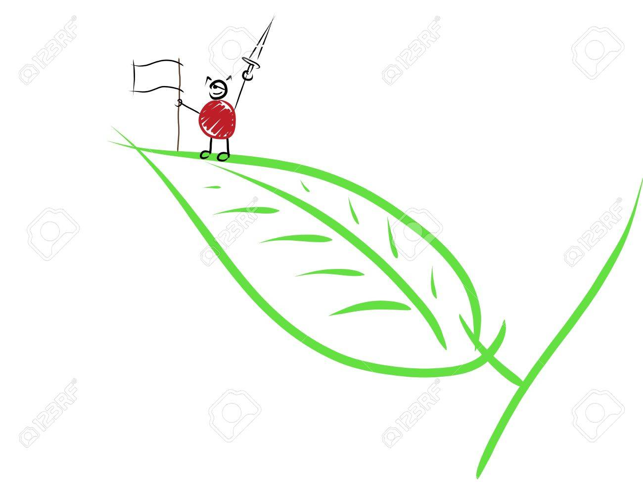 child drawing representing a victorious ant stock photo picture