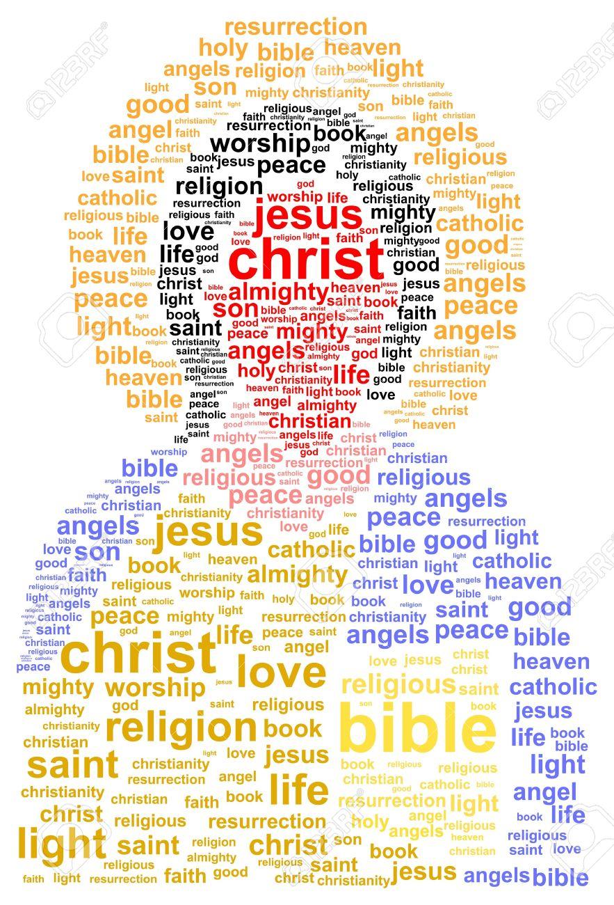 jesus christ word cloud concept royalty free cliparts vectors