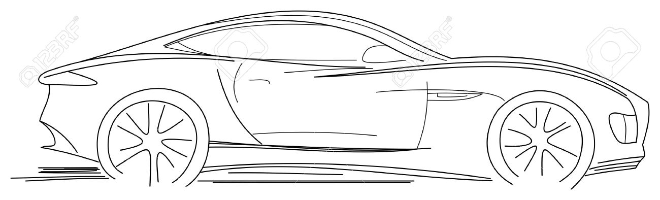 Sport Car Sketch Royalty Free Cliparts, Vectors, And Stock ...