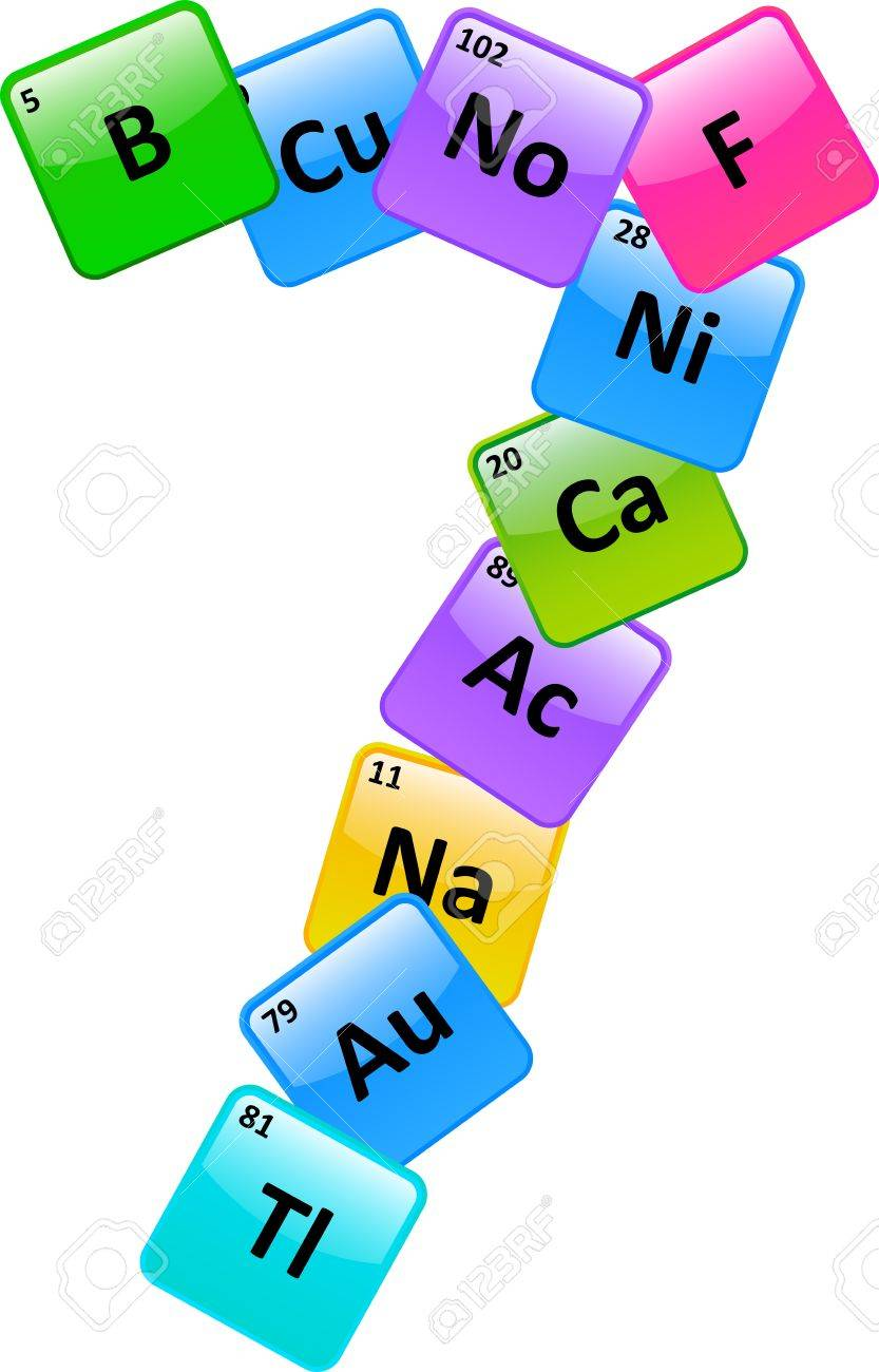 Periodic Table Of Elements Number 7 Stock Vector - 19939264