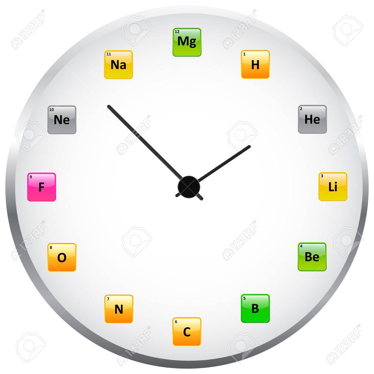 Periodic table clock royalty free cliparts vectors and stock periodic table clock stock vector 20184131 urtaz Images