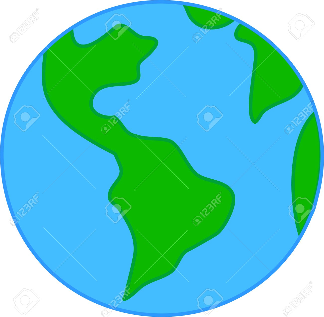 Child Drawing Sketch Of Planet Earth Royalty Free Cliparts Vectors