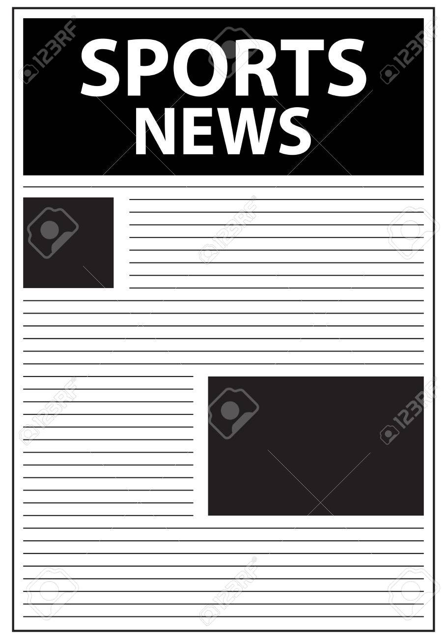Sports News Newspaper First Page Template Royalty Free Cliparts ...