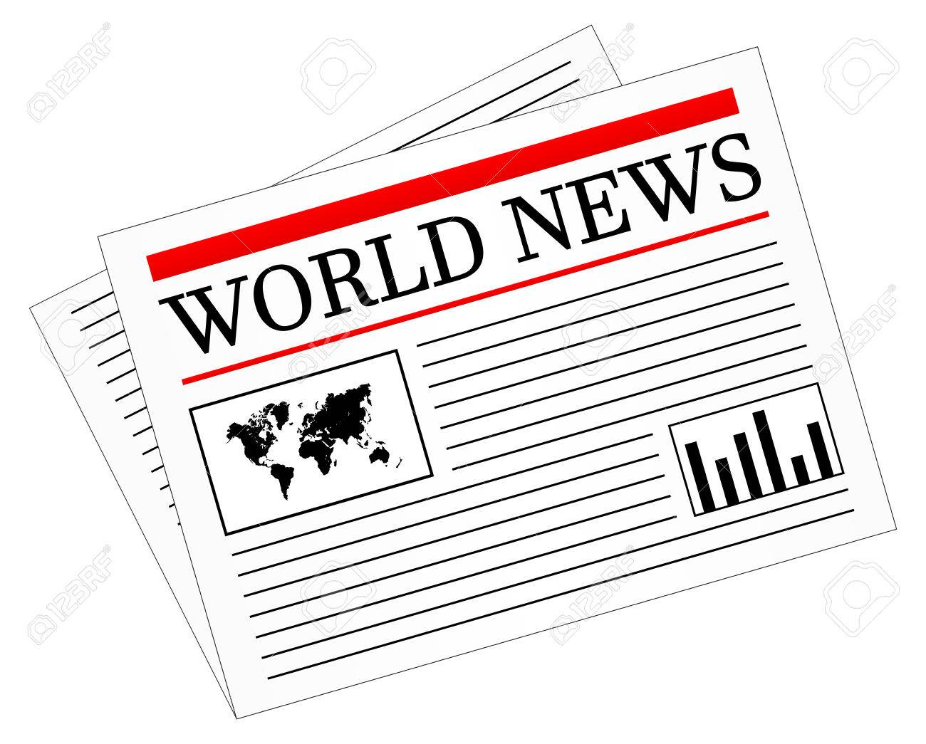 Daily News Newspaper Press Stock Vector - 23886019
