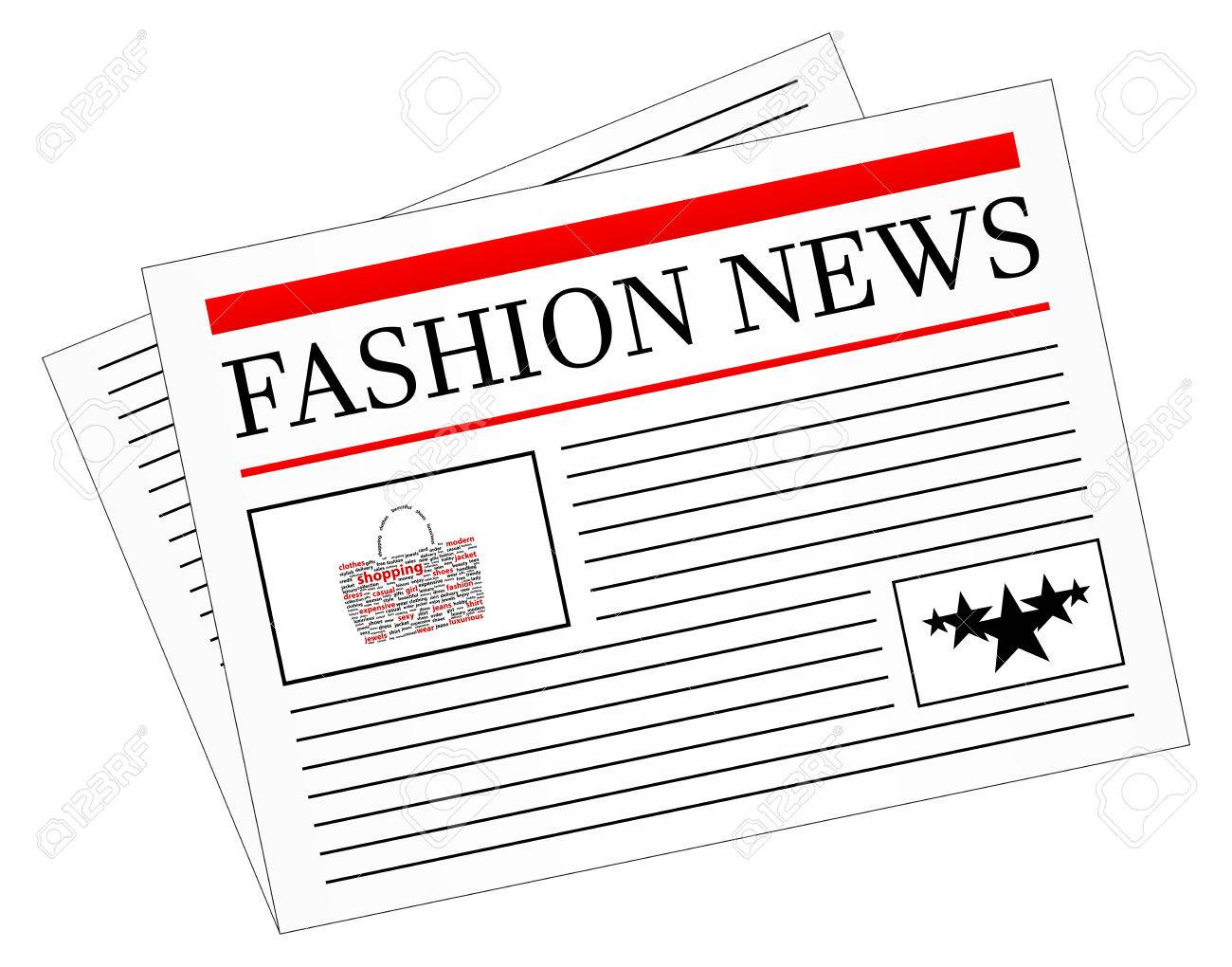 Fashion News Newspaper Headline Front Page Royalty Free Cliparts Vectors And Stock Illustration Image 23907957