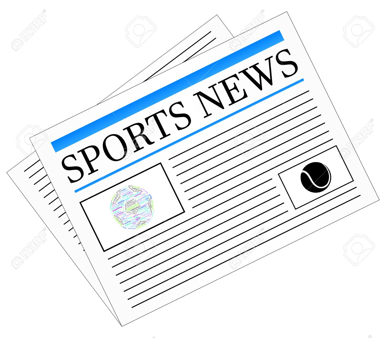 Sports News Newspaper Headline Front Page Royalty Free Cliparts Vectors And Stock Illustration Image 23907965