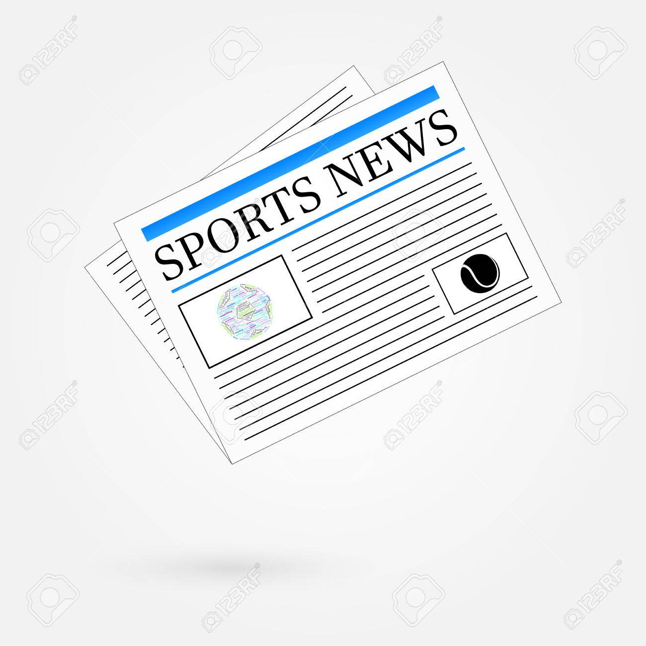 Sports News Newspaper Headline Front Page Stock Vector - 23907967