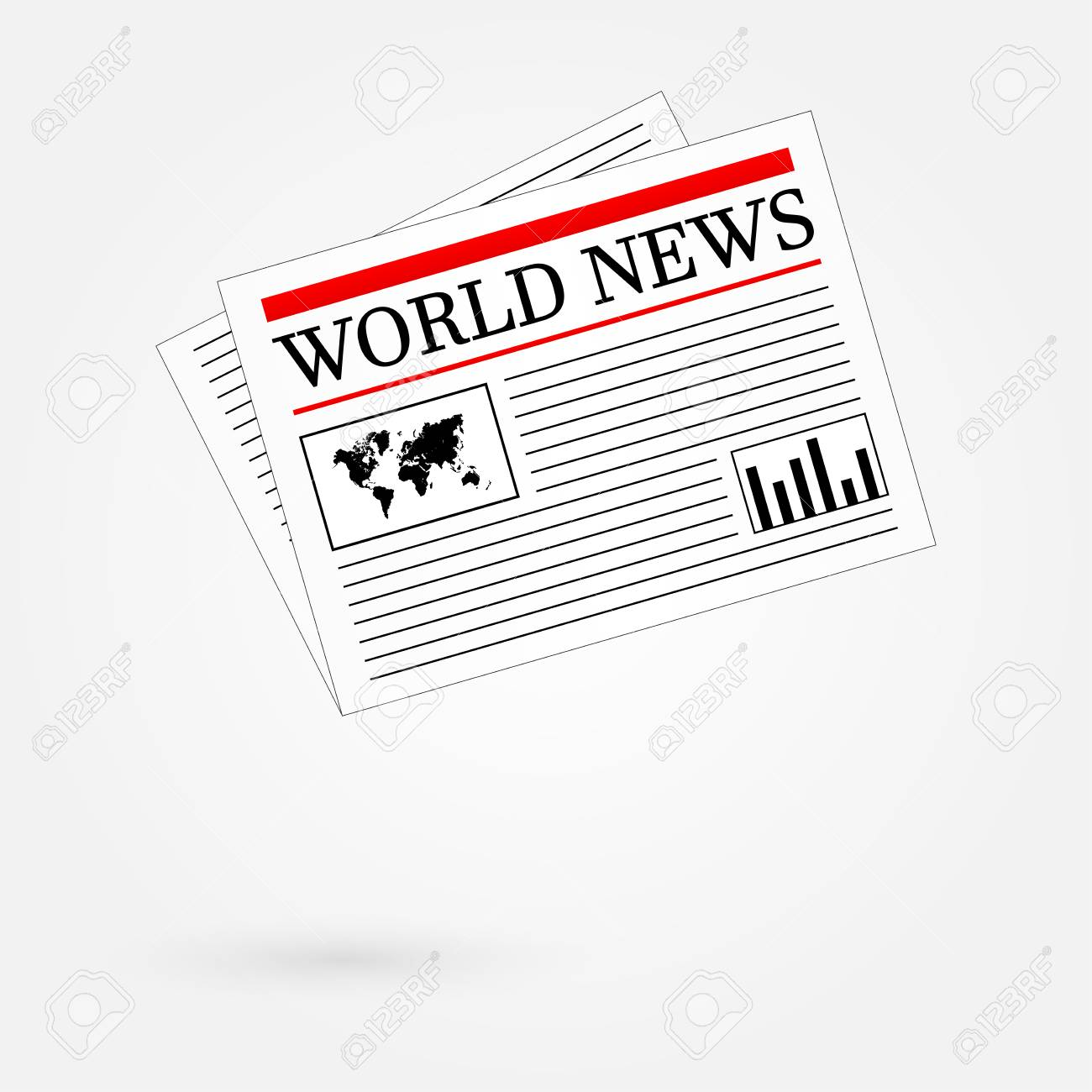 World News Newspaper Stock Vector - 24025322
