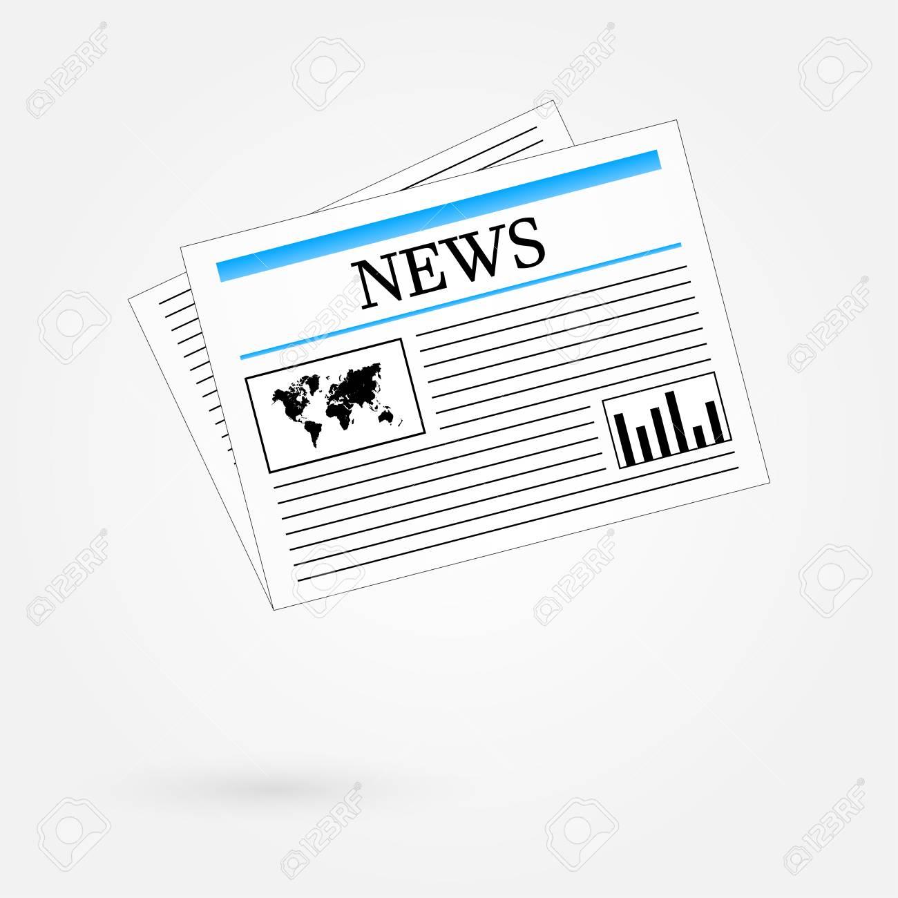 World News Newspaper Stock Vector - 24025328