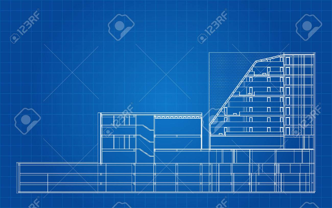 Modern hotel building architectural blueprint royalty free cliparts modern hotel building architectural blueprint stock vector 25308139 malvernweather Choice Image