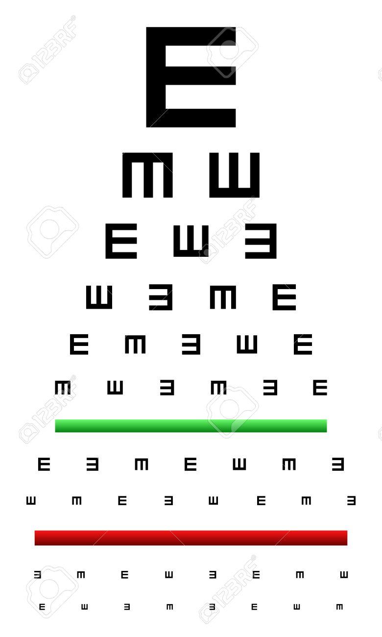 Snellen eye chart test used in young children royalty free snellen eye chart test used in young children stock vector 26527469 geenschuldenfo Choice Image