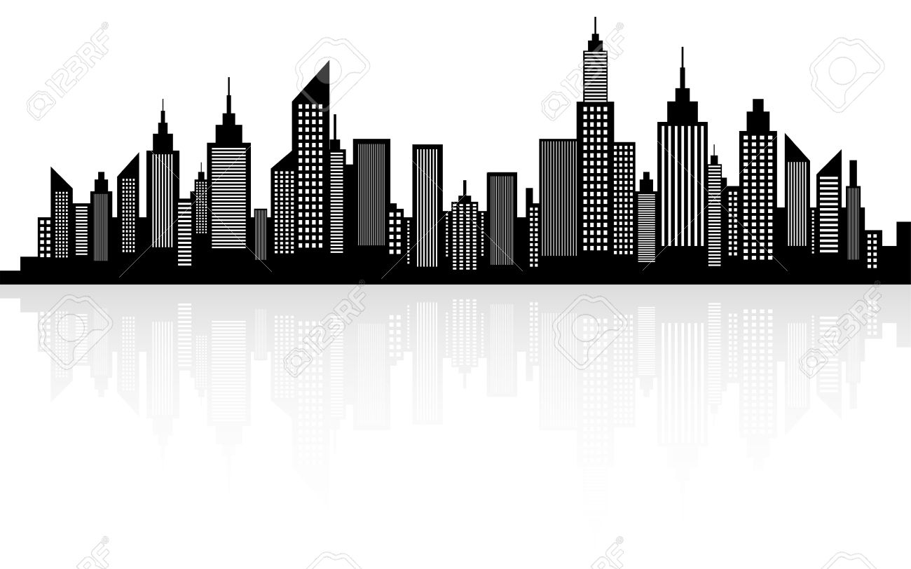 modern city skyscrapers skyline silhouette royalty free cliparts rh 123rf com city victorville water city victorville jobs