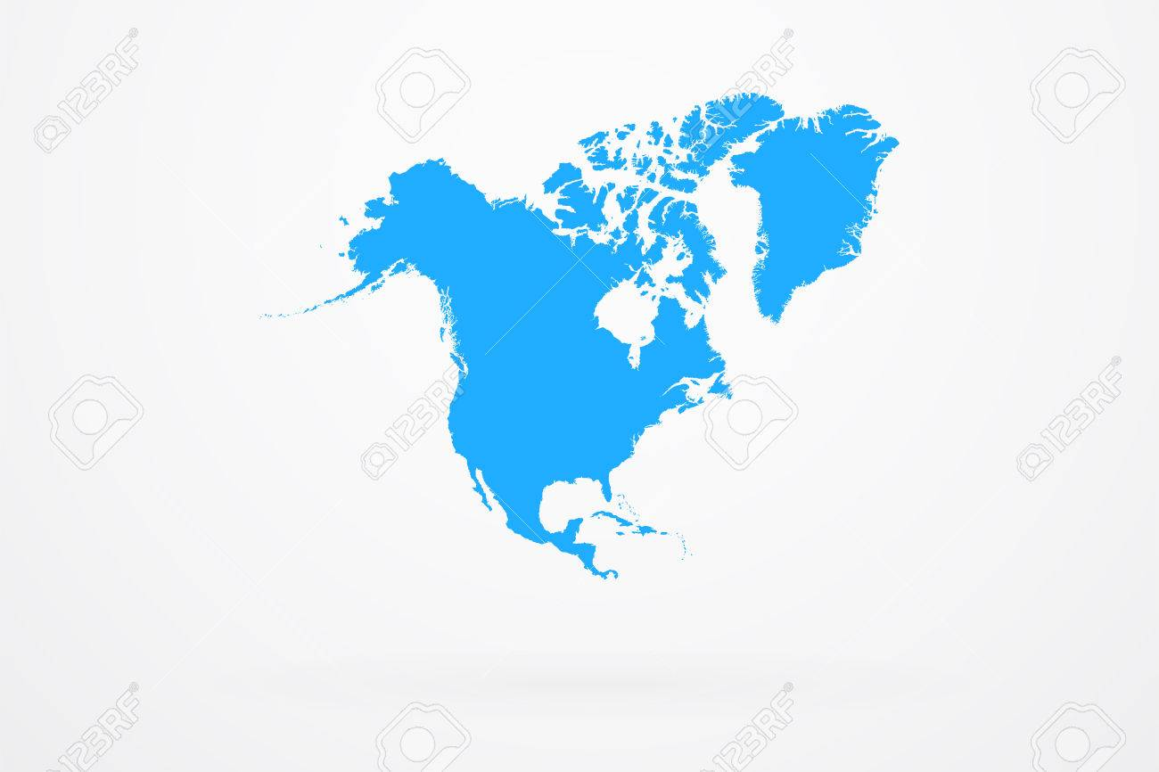 north america continent map royalty free cliparts vectors and