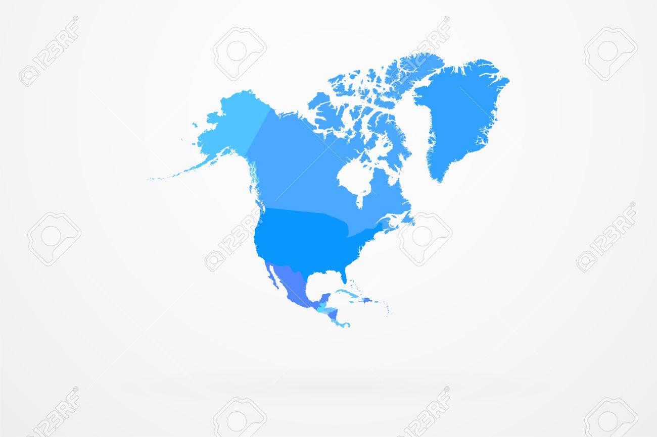 north america continent map