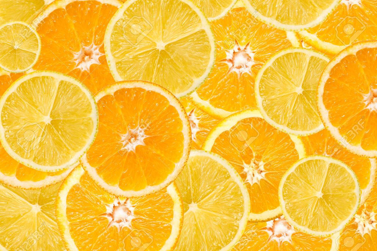Orange And Lemon Slice Abstract Seamless Pattern - 38159335