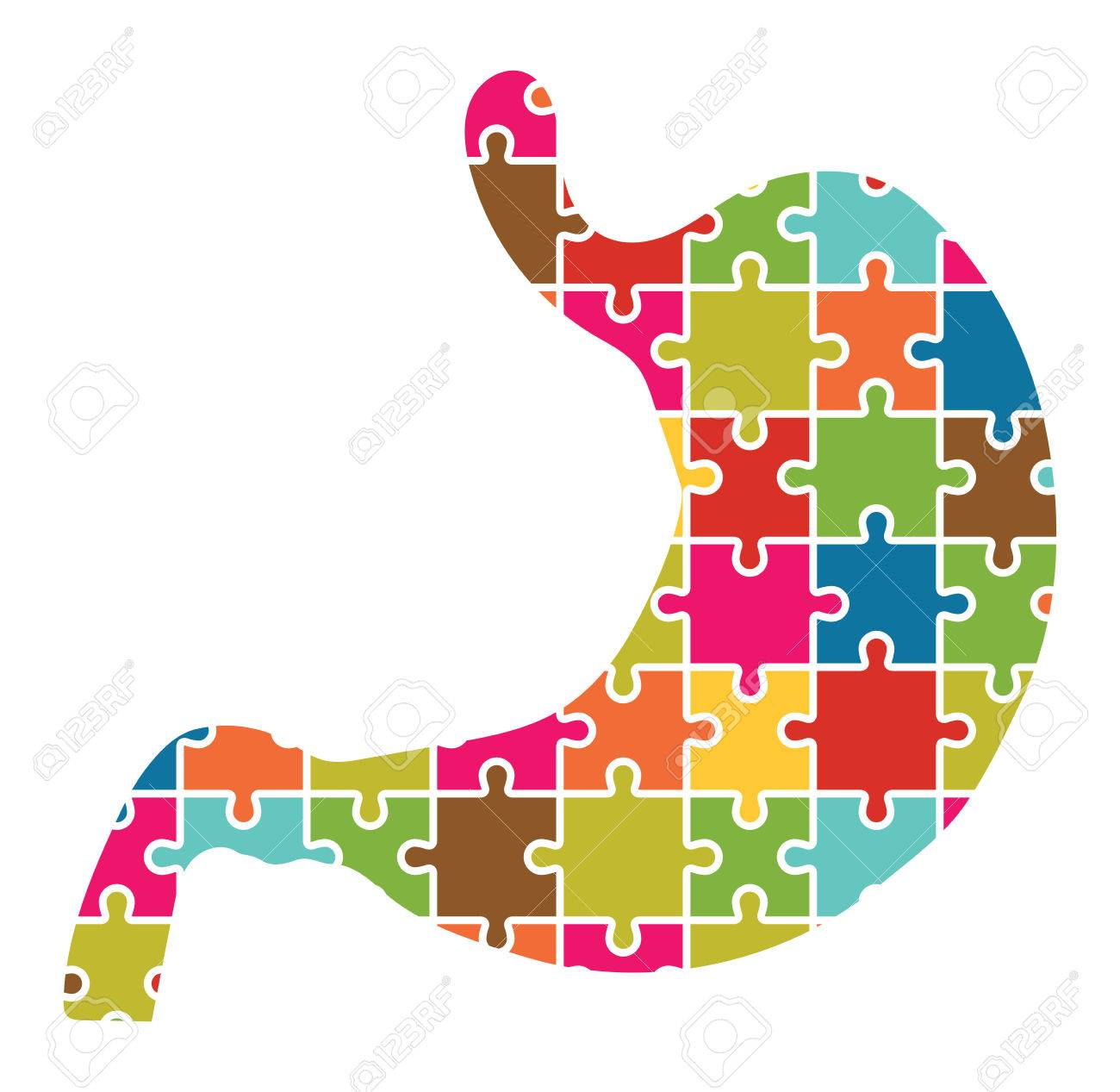 Stomach Jigsaw Puzzle Pieces Abstract - 38160542