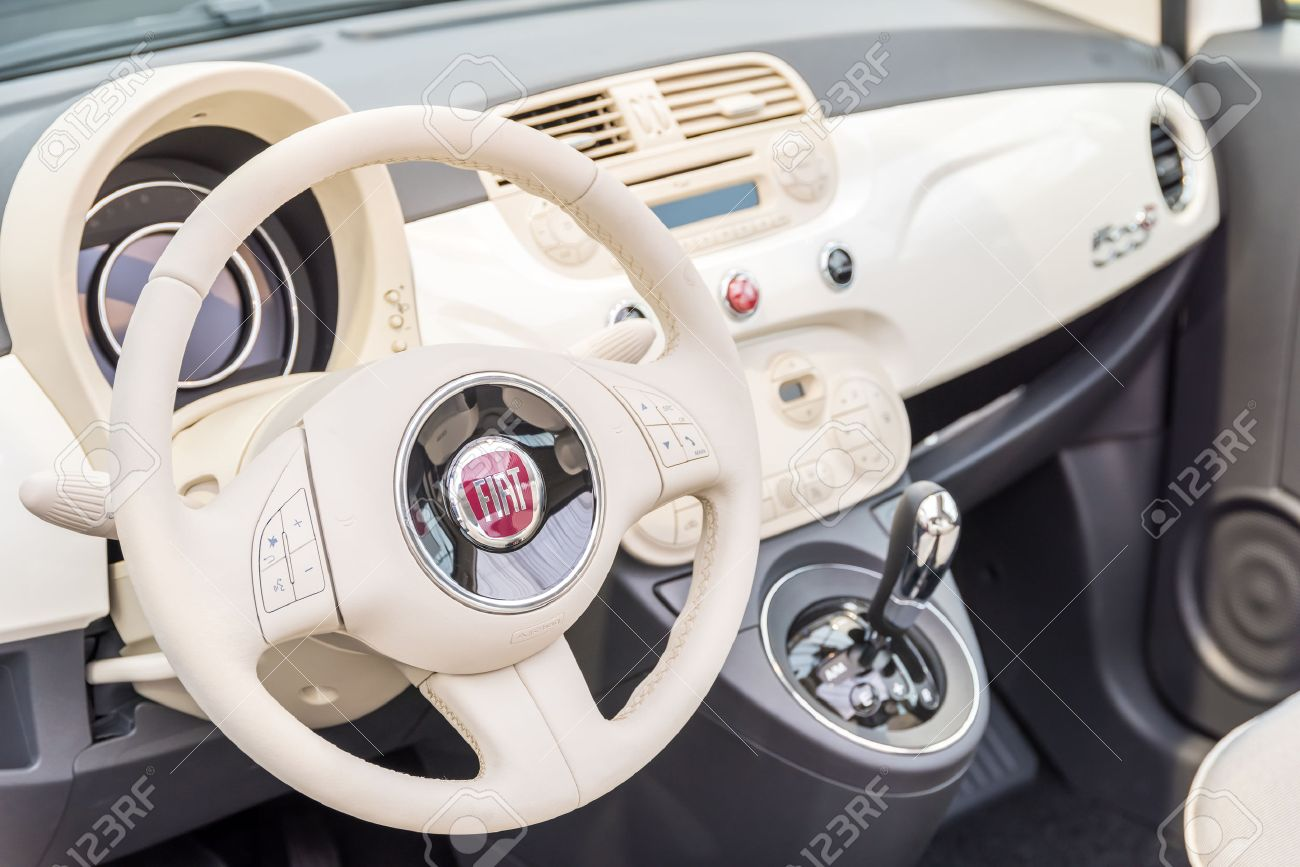 Bucharest Romania April 28 2015 Fiat Car Interior View Founded