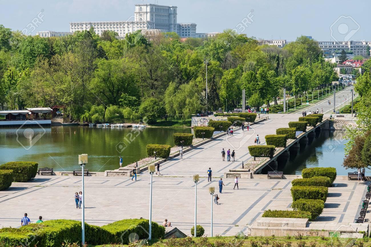 Bucharest Romania April 28 2015 Built In 1906 Carol Park Or