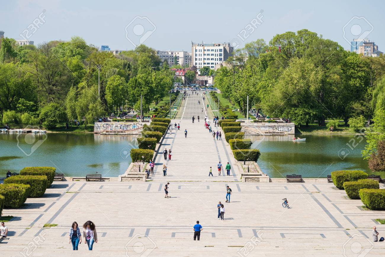 Bucharest Romania April 28 2015 Built In 1906 Carol Park Or