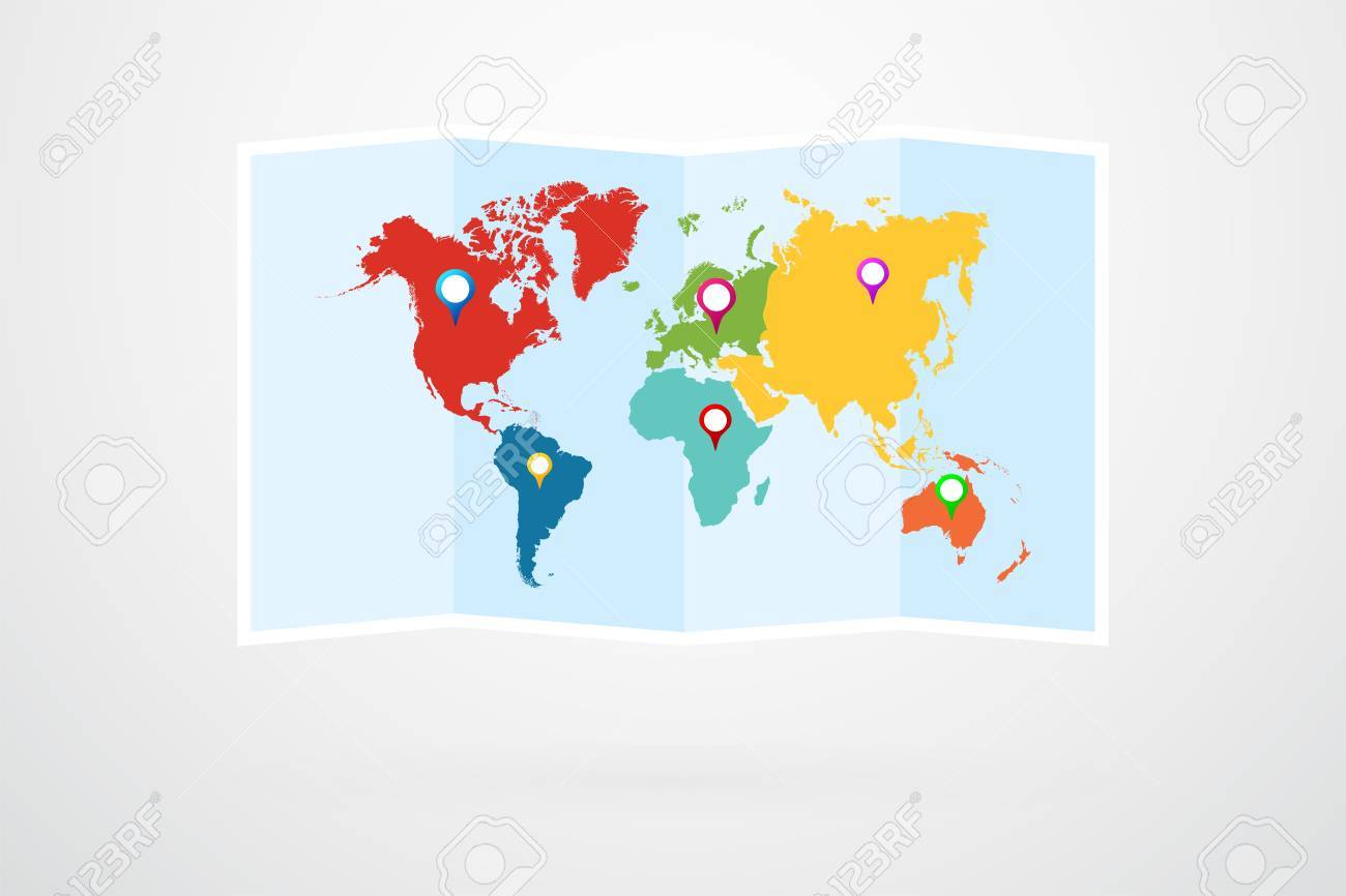 World map vector infographic royalty free cliparts vectors and vector world map vector infographic gumiabroncs Images