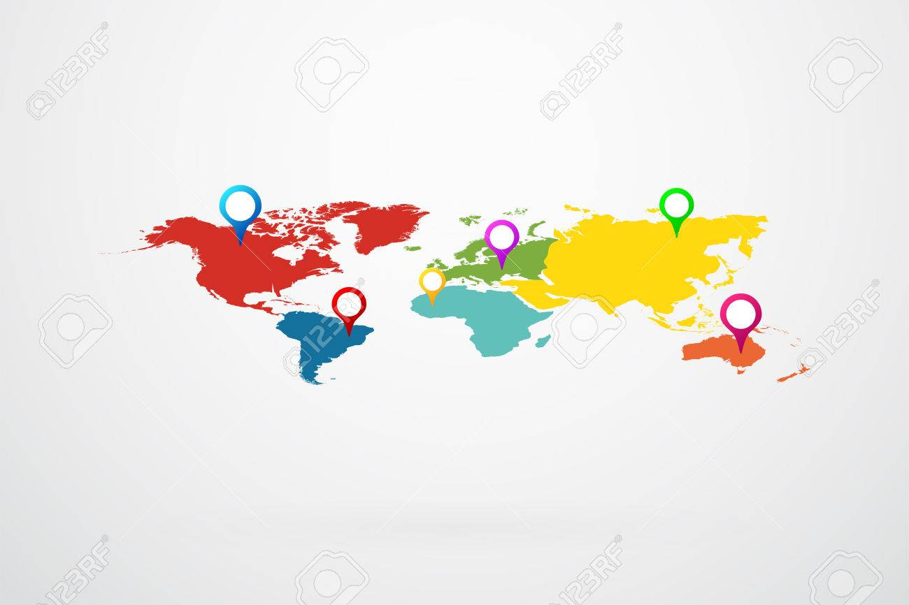 World map points of interest royalty free cliparts vectors and world map points of interest stock vector 40823500 gumiabroncs Image collections