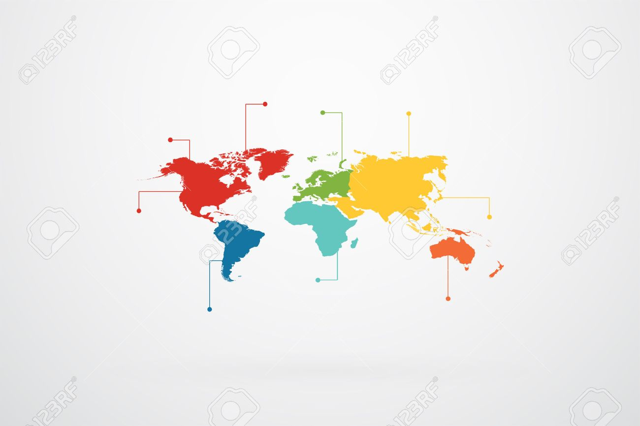 World map continents infographic vector royalty free cliparts vector world map continents infographic vector gumiabroncs
