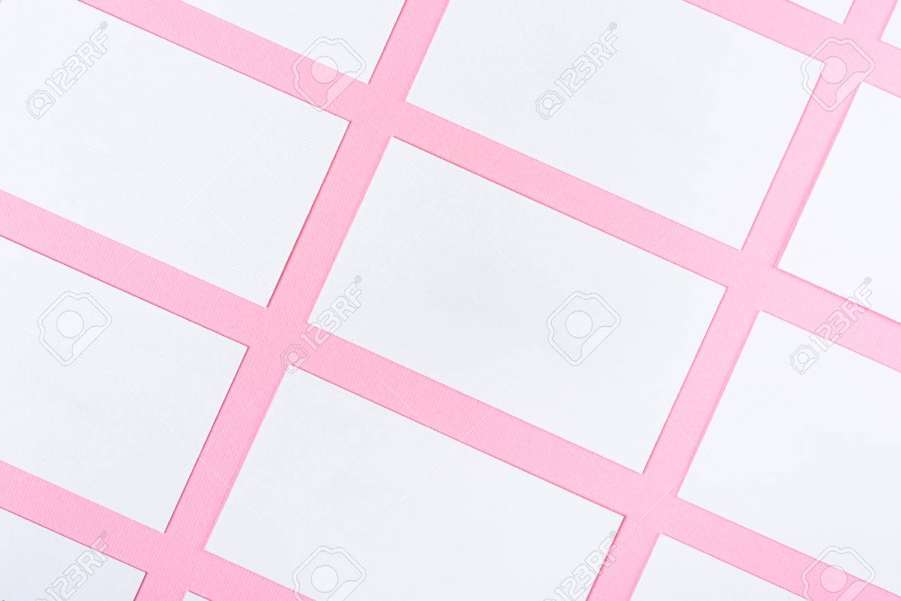 White blank business cards on pink background with fine paper white blank business cards on pink background with fine paper texture stock photo 76820130 reheart Image collections