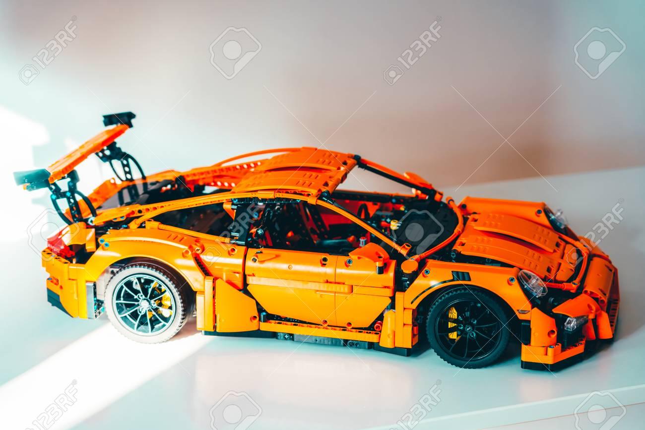 Bucharest Romania April 02 2019 Porsche 911 Gt3 Rs Lego