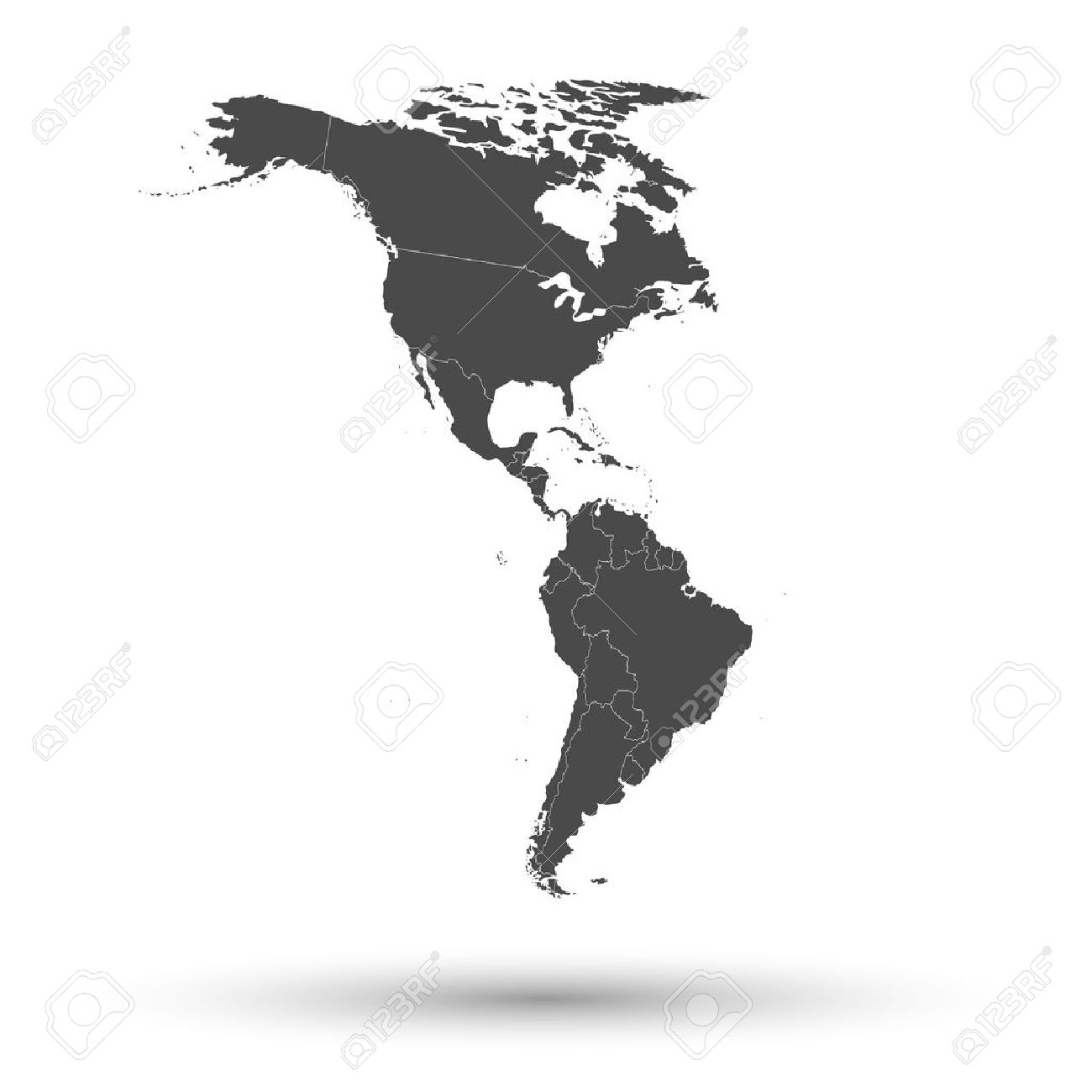 North And South America Map Background Vector Royalty Free - North and south america map