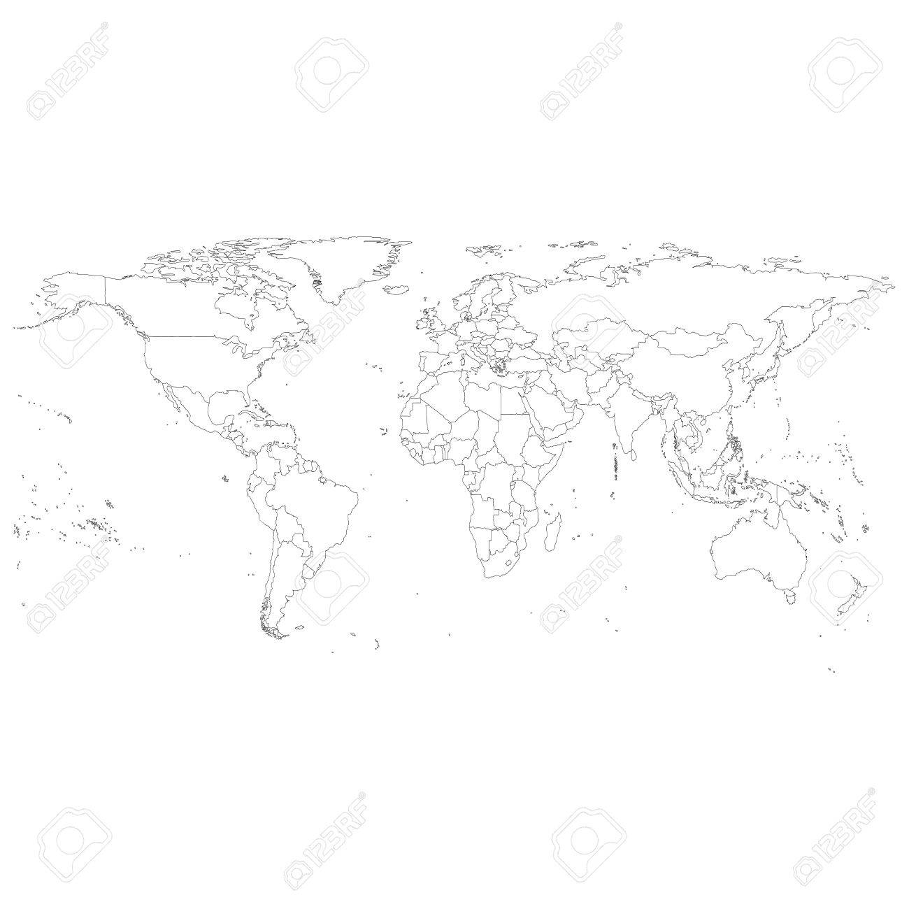 Gray political world map vector light design vector illustration gray political world map vector light design vector illustration stock vector 27847755 gumiabroncs Image collections