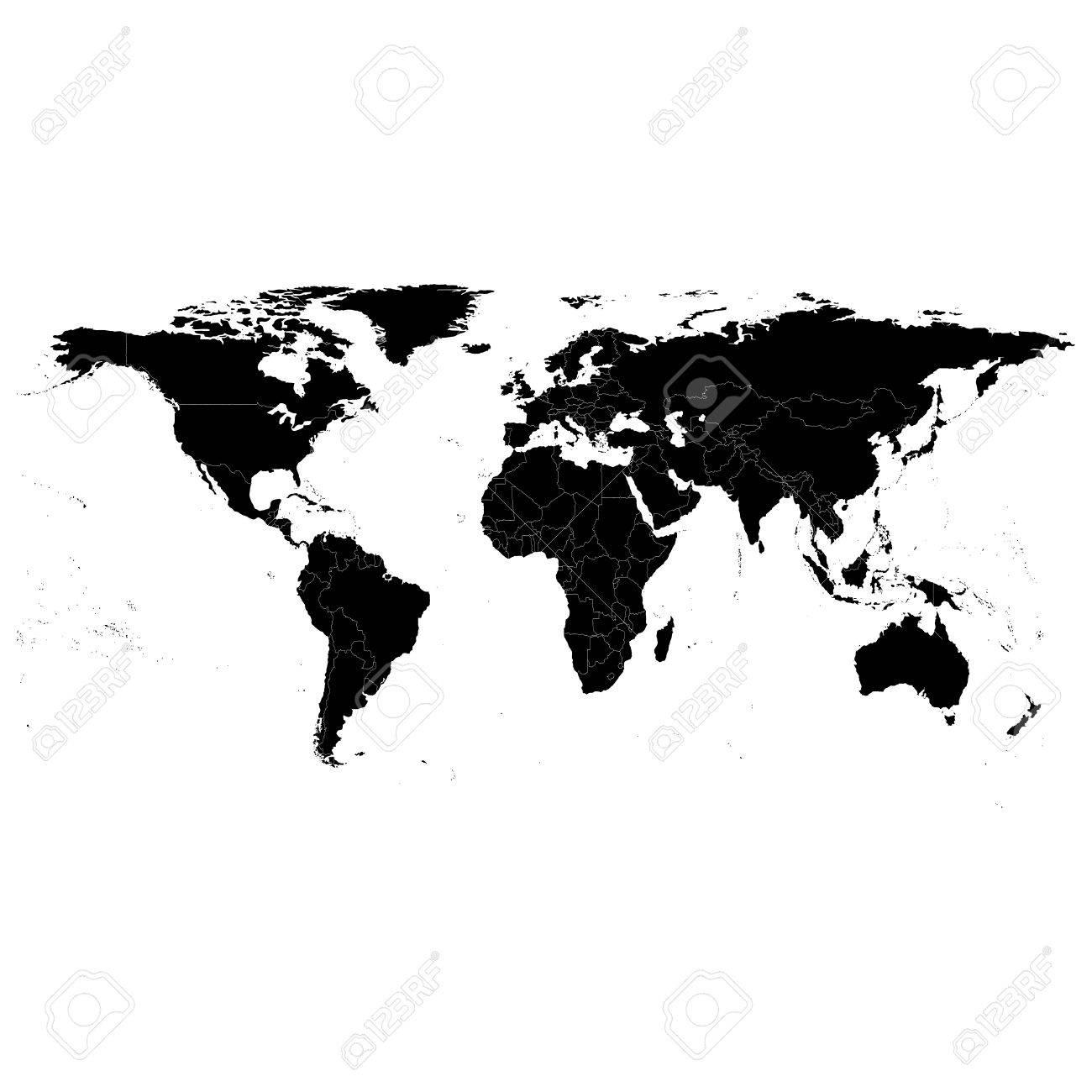 Black political world map light design vector illustration royalty black political world map light design vector illustration stock vector 27847758 gumiabroncs Images