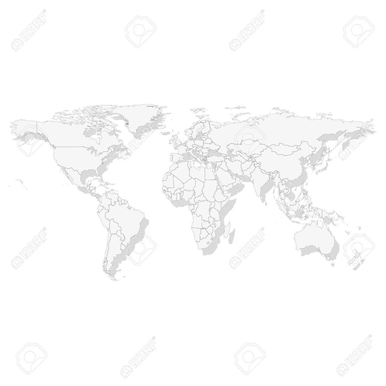 Gray political world map light design vector illustration royalty gray political world map light design vector illustration stock vector 27847066 gumiabroncs Gallery