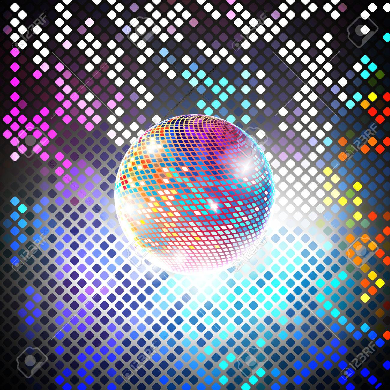 Disco Party Vector Background Light Design Stock