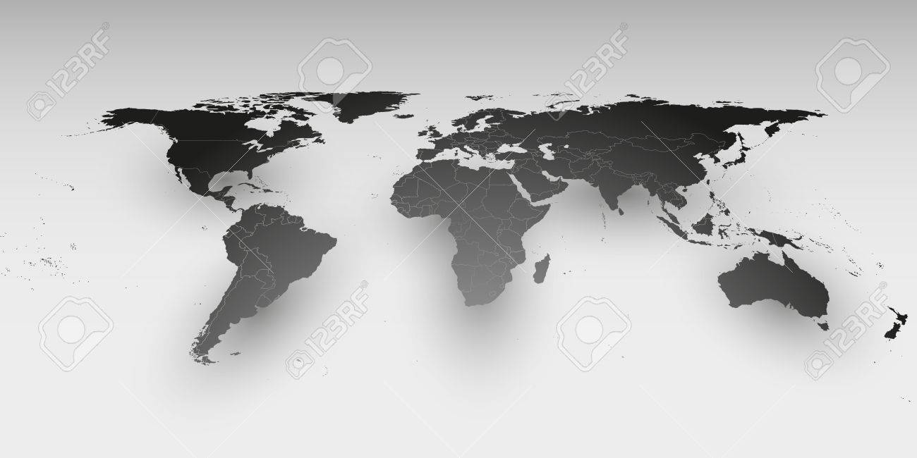 World map in perspective vector template for business design vector world map in perspective vector template for business design gumiabroncs Choice Image