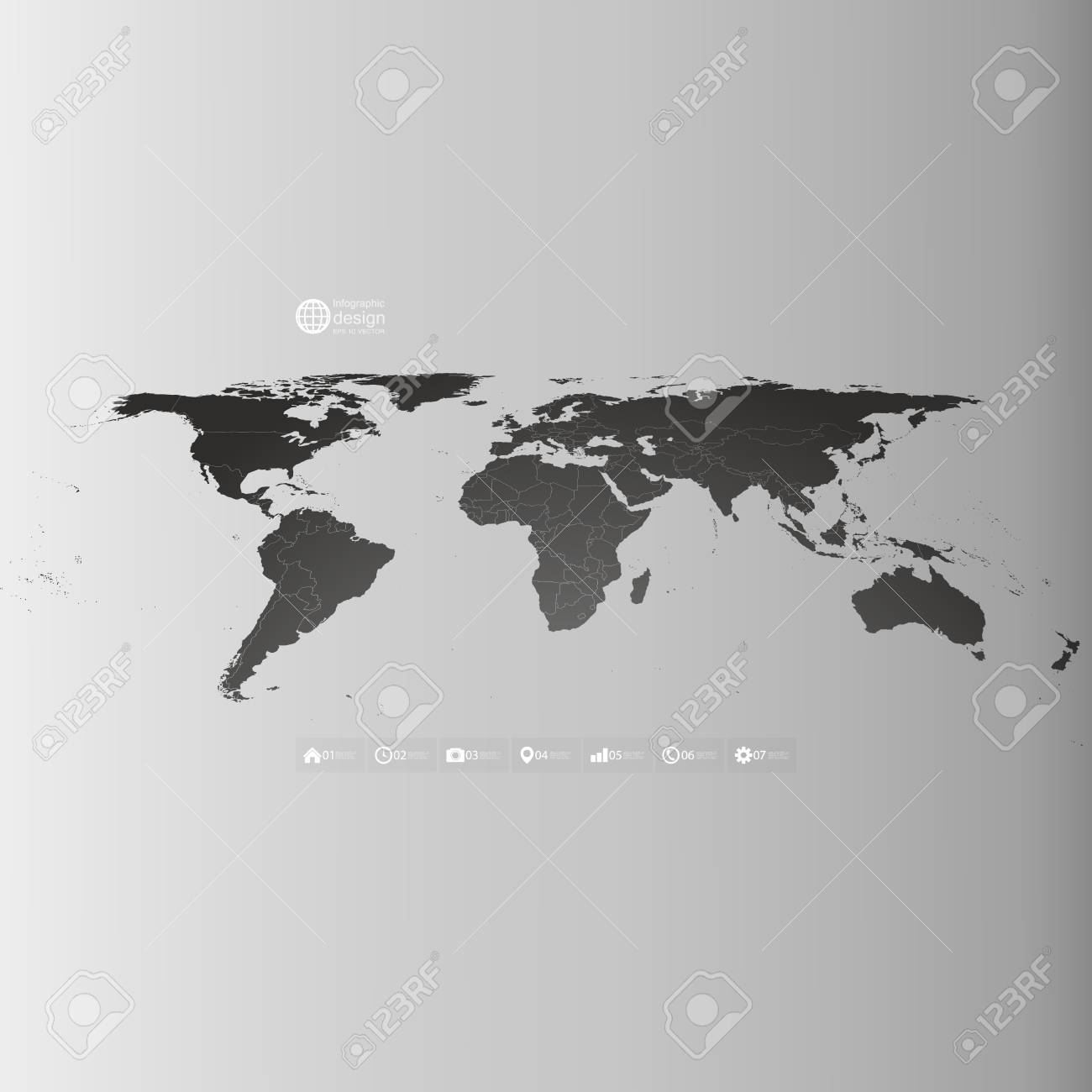 Black world map in perspective infographic vector template for black world map in perspective infographic vector template for business design foto de archivo gumiabroncs Images