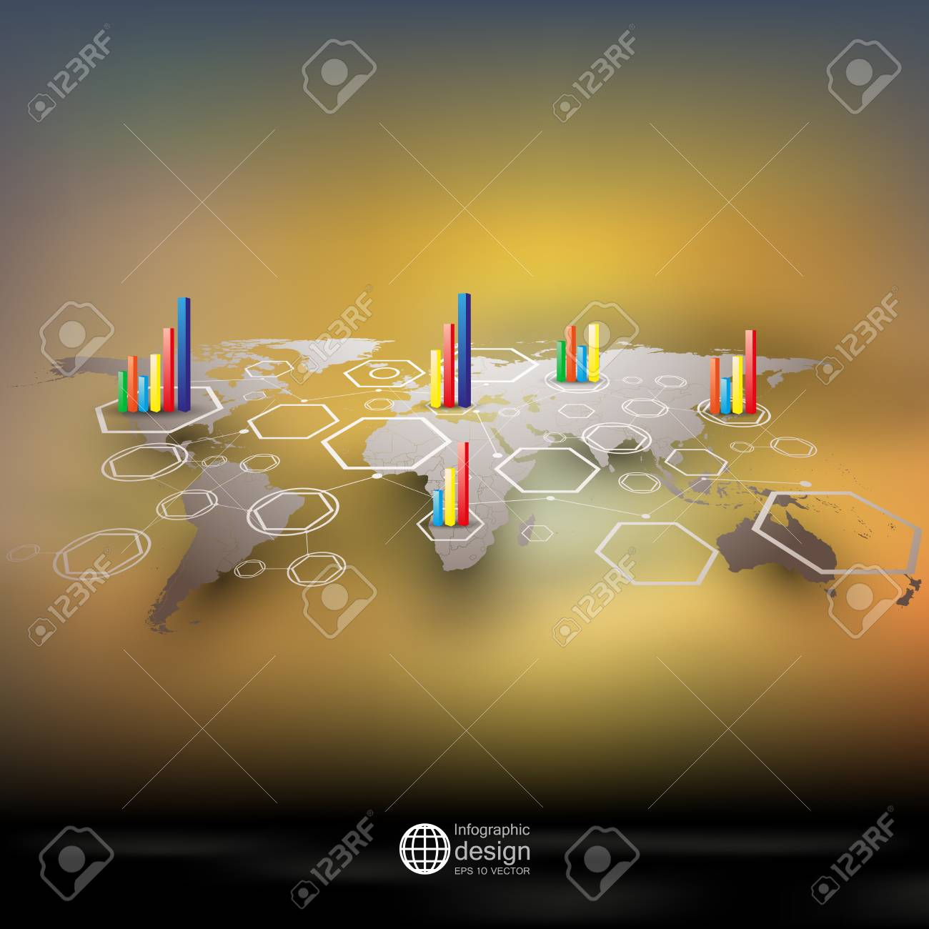 World map in perspective royalty free cliparts vectors and stock vector world map in perspective gumiabroncs Choice Image
