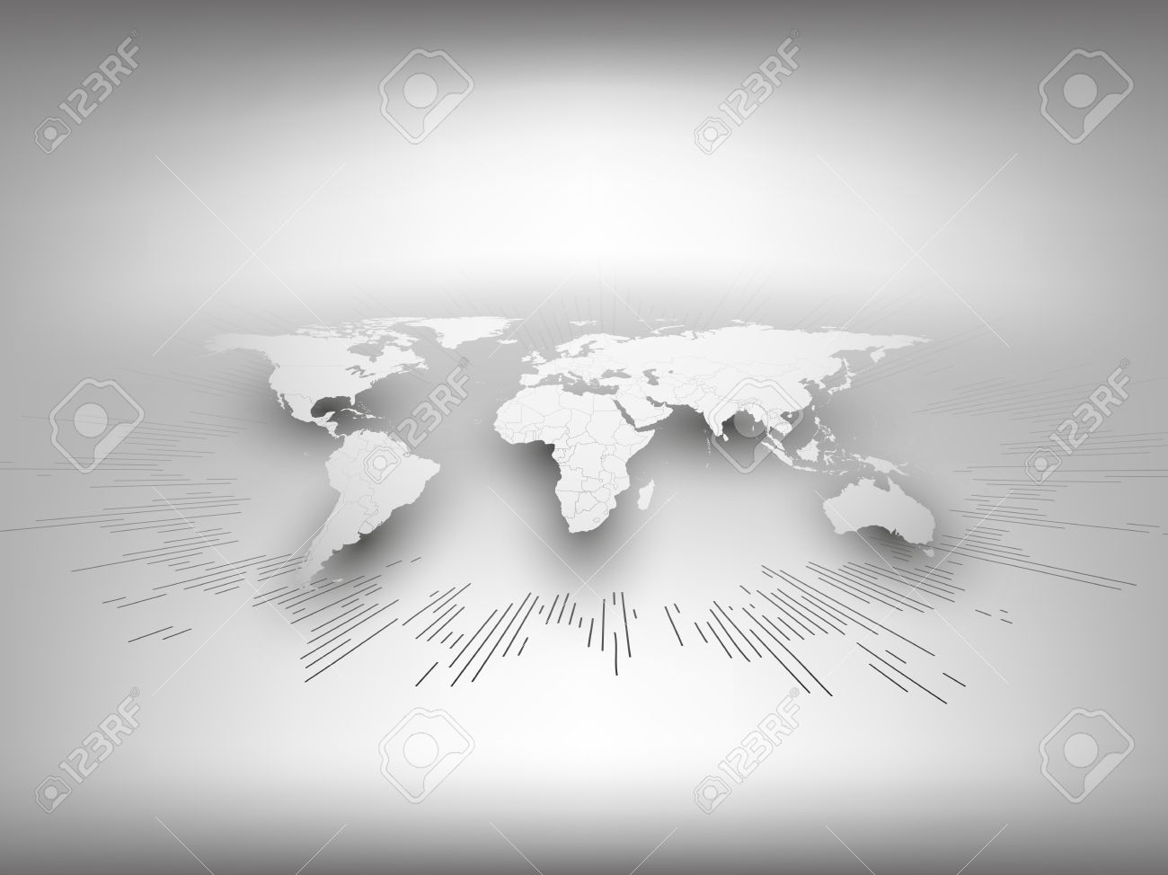 World map template in perspective on gray background for business world map template in perspective on gray background for business or website design stock vector gumiabroncs Choice Image