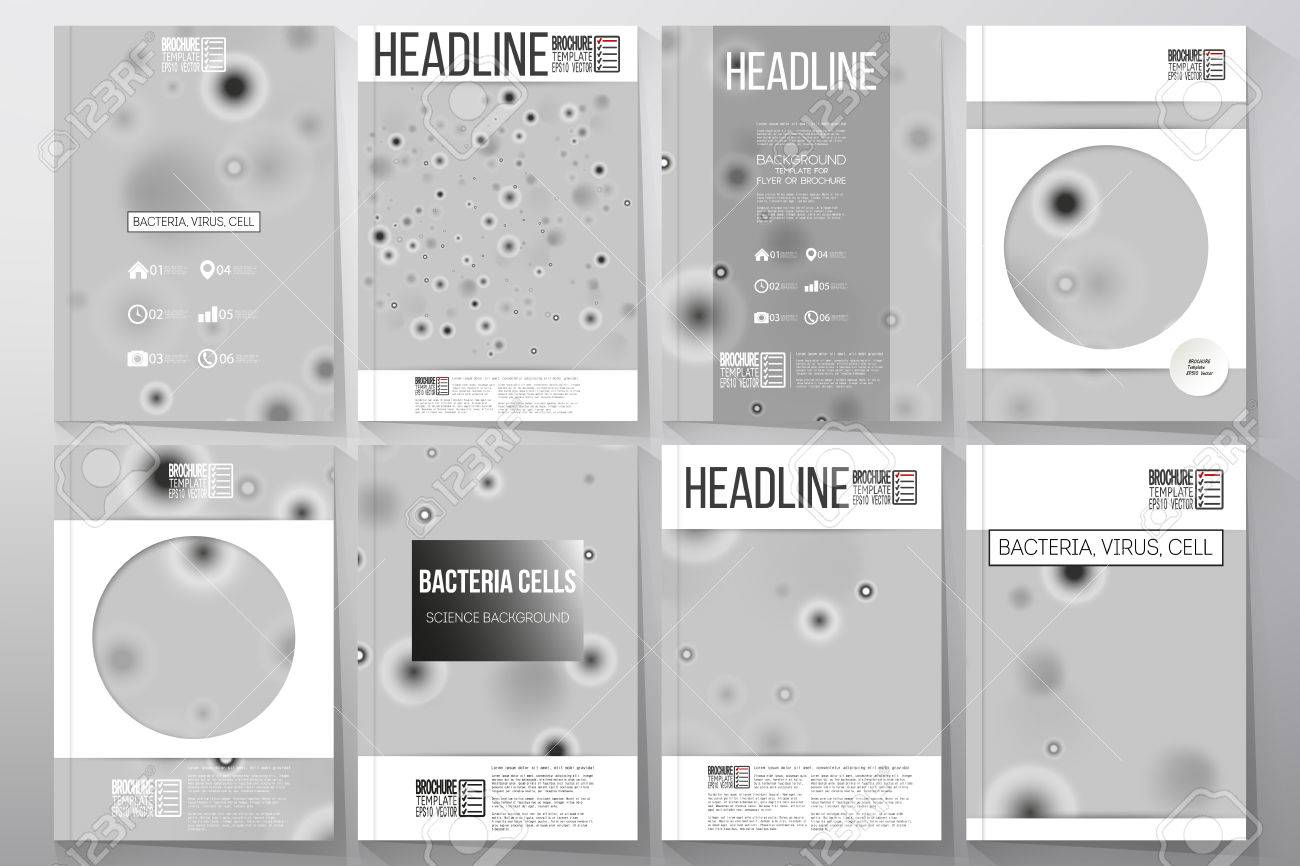 Set Of Business Templates For Brochure, Flyer Or Booklet. Molecular ...