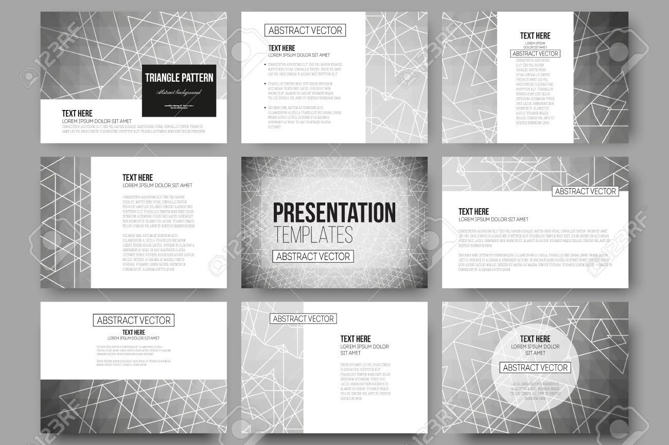 set of 9 vector templates for presentation slides sacred geometry