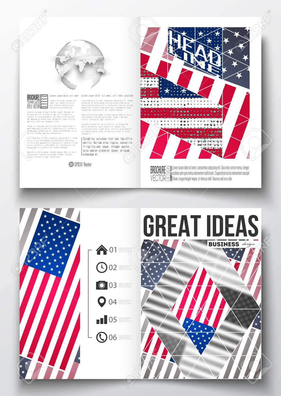 set of business templates for brochure magazine flyer booklet or annual report