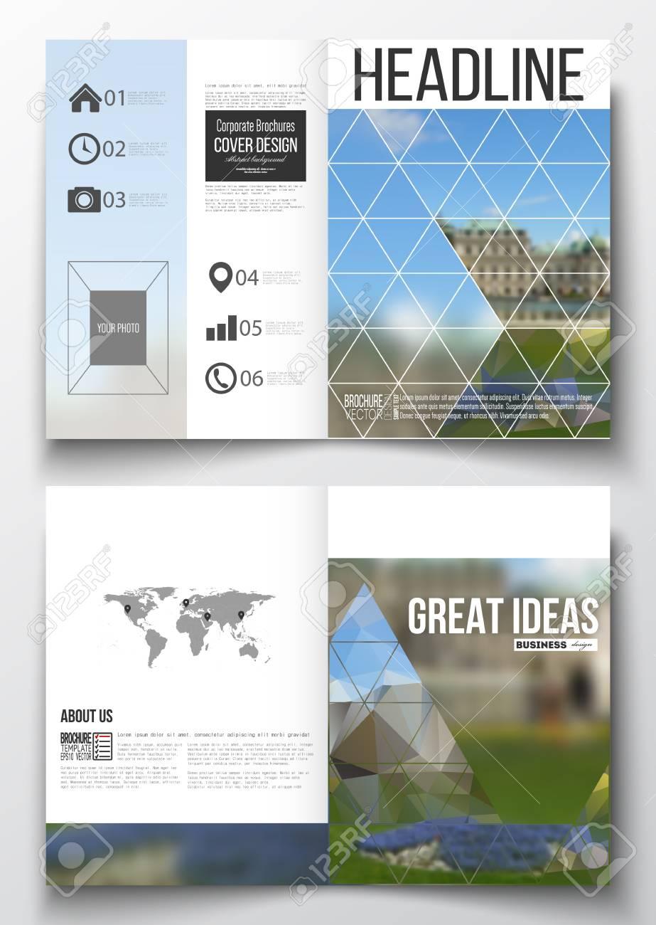 Set Von Business-Vorlagen Für Die Broschüre, Magazin, Flyer ...