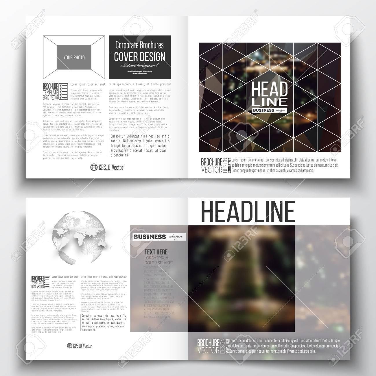 Set Jahresbericht Business-Vorlagen Für Die Broschüre, Magazin ...