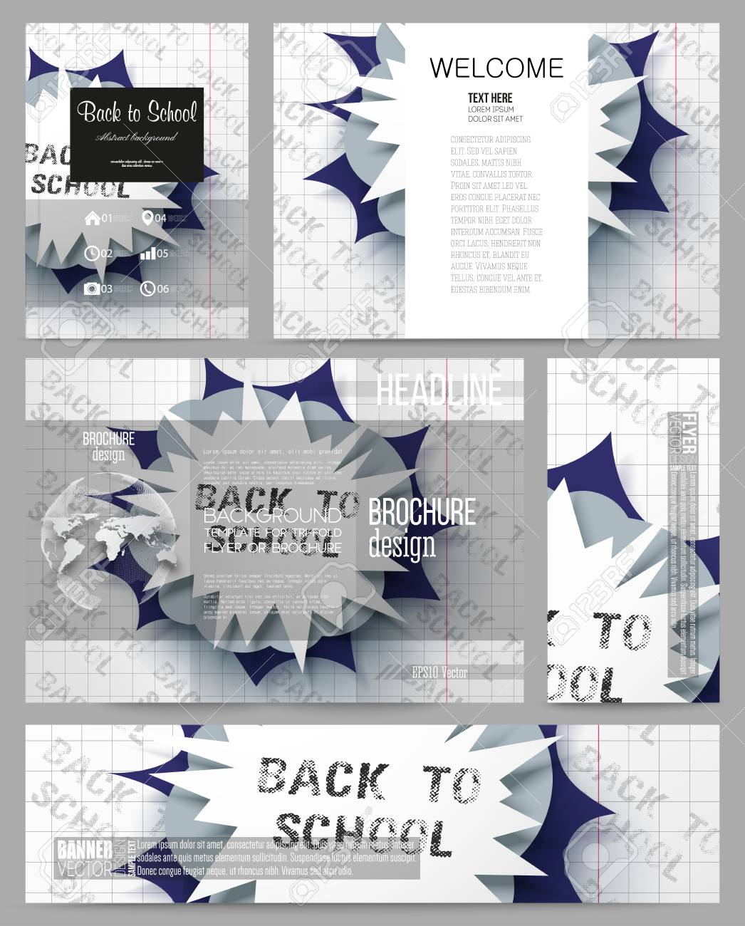set of business templates for presentation brochure flyer or